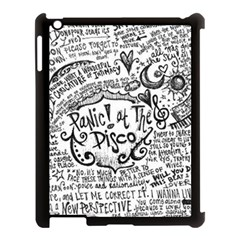 Panic! At The Disco Lyric Quotes Apple iPad 3/4 Case (Black)