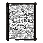 Panic! At The Disco Lyric Quotes Apple iPad 3/4 Case (Black) Front