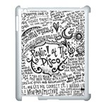 Panic! At The Disco Lyric Quotes Apple iPad 3/4 Case (White) Front
