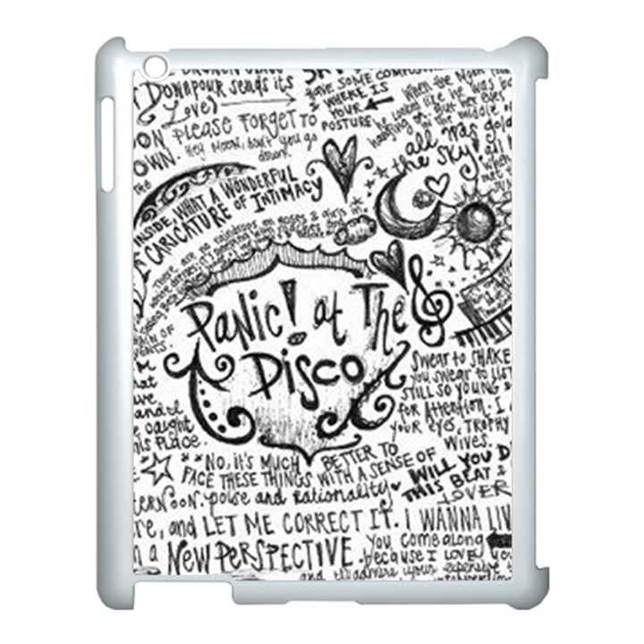 Panic! At The Disco Lyric Quotes Apple iPad 3/4 Case (White)