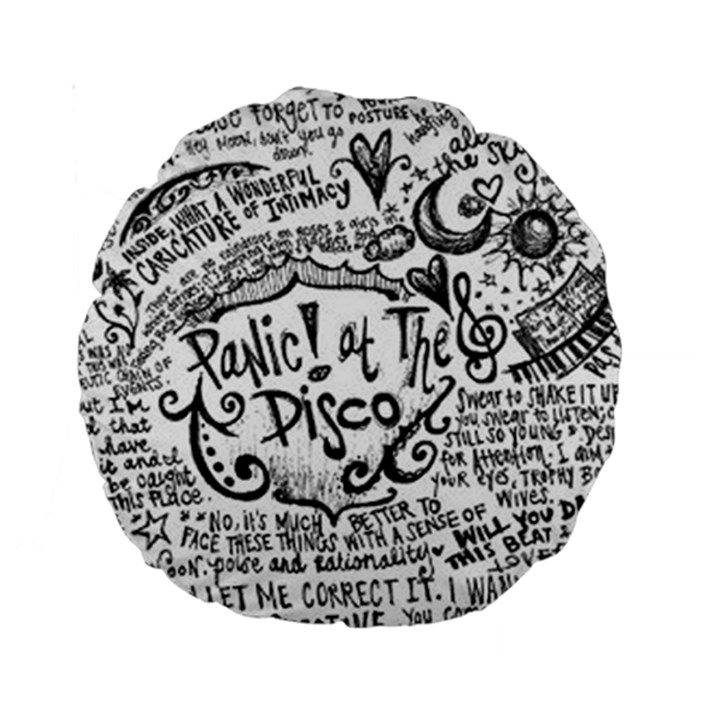 Panic! At The Disco Lyric Quotes Standard 15  Premium Round Cushions