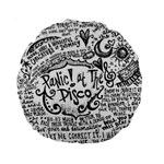 Panic! At The Disco Lyric Quotes Standard 15  Premium Round Cushions Back