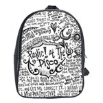 Panic! At The Disco Lyric Quotes School Bags (XL)  Front