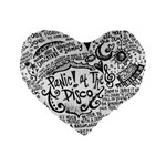 Panic! At The Disco Lyric Quotes Standard 16  Premium Heart Shape Cushions Front