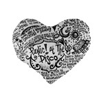 Panic! At The Disco Lyric Quotes Standard 16  Premium Heart Shape Cushions Back