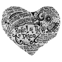 Panic! At The Disco Lyric Quotes Large 19  Premium Heart Shape Cushions