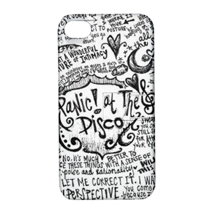 Panic! At The Disco Lyric Quotes Apple iPhone 4/4S Hardshell Case with Stand