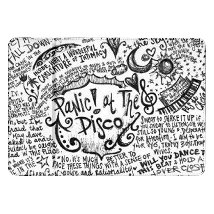 Panic! At The Disco Lyric Quotes Samsung Galaxy Tab 8.9  P7300 Flip Case