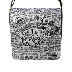 Panic! At The Disco Lyric Quotes Flap Messenger Bag (L)