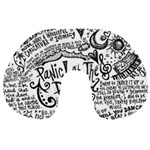 Panic! At The Disco Lyric Quotes Travel Neck Pillows Back