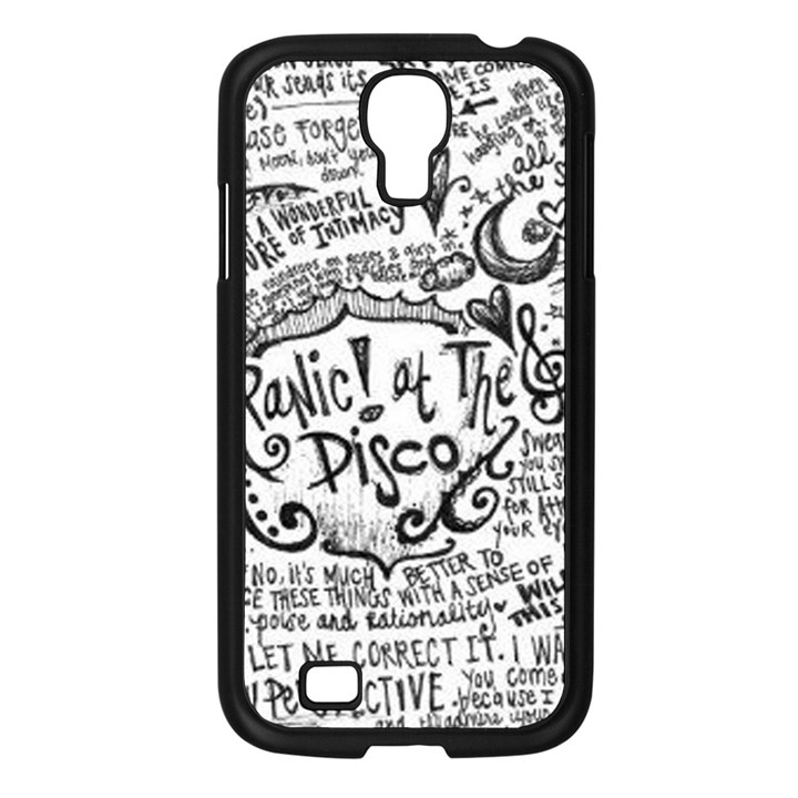 Panic! At The Disco Lyric Quotes Samsung Galaxy S4 I9500/ I9505 Case (Black)