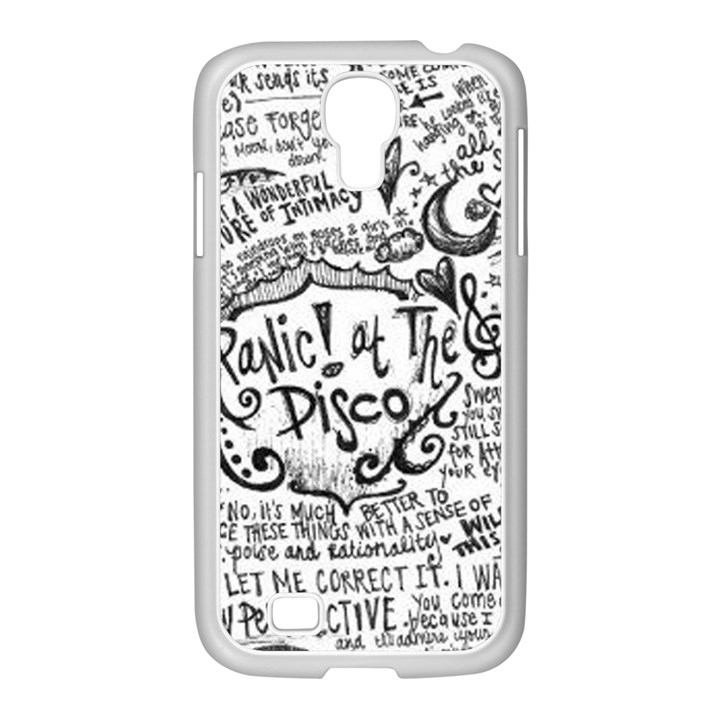Panic! At The Disco Lyric Quotes Samsung GALAXY S4 I9500/ I9505 Case (White)