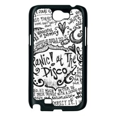 Panic! At The Disco Lyric Quotes Samsung Galaxy Note 2 Case (Black)