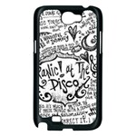 Panic! At The Disco Lyric Quotes Samsung Galaxy Note 2 Case (Black) Front