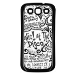 Panic! At The Disco Lyric Quotes Samsung Galaxy S3 Back Case (Black) Front