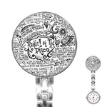 Panic! At The Disco Lyric Quotes Stainless Steel Nurses Watch Front