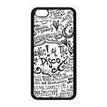 Panic! At The Disco Lyric Quotes Apple iPhone 5C Seamless Case (Black) Front