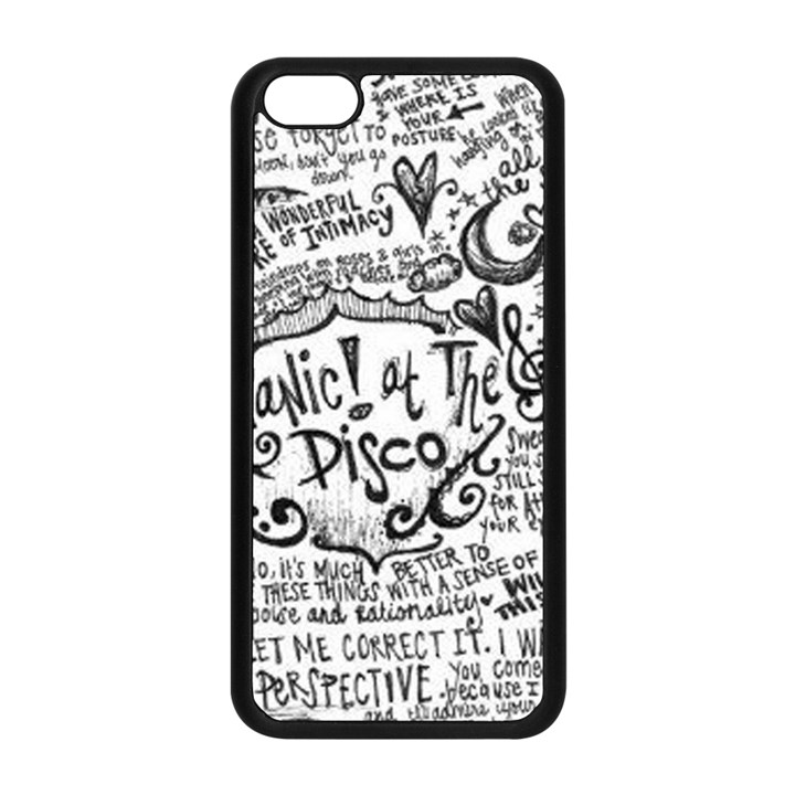 Panic! At The Disco Lyric Quotes Apple iPhone 5C Seamless Case (Black)