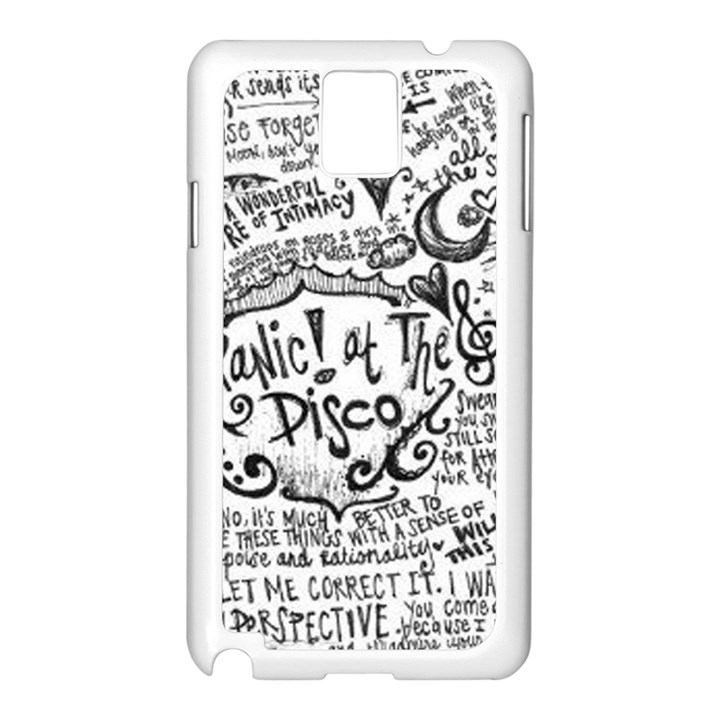Panic! At The Disco Lyric Quotes Samsung Galaxy Note 3 N9005 Case (White)