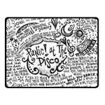 Panic! At The Disco Lyric Quotes Double Sided Fleece Blanket (Small)  50 x40 Blanket Back