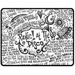 Panic! At The Disco Lyric Quotes Double Sided Fleece Blanket (medium)