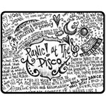 Panic! At The Disco Lyric Quotes Double Sided Fleece Blanket (Medium)  60 x50 Blanket Back