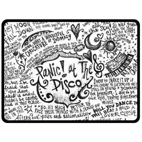 Panic! At The Disco Lyric Quotes Double Sided Fleece Blanket (Large)