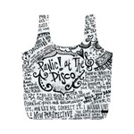 Panic! At The Disco Lyric Quotes Full Print Recycle Bags (M)  Back