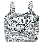 Panic! At The Disco Lyric Quotes Full Print Recycle Bags (L)  Back