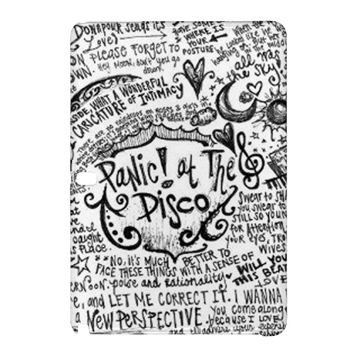 Panic! At The Disco Lyric Quotes Samsung Galaxy Tab Pro 10.1 Hardshell Case