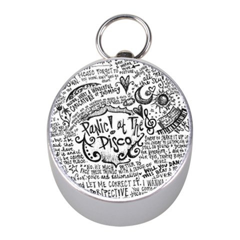 Panic! At The Disco Lyric Quotes Mini Silver Compasses