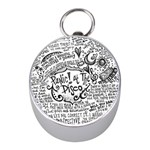 Panic! At The Disco Lyric Quotes Mini Silver Compasses Front