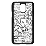 Panic! At The Disco Lyric Quotes Samsung Galaxy S5 Case (Black) Front
