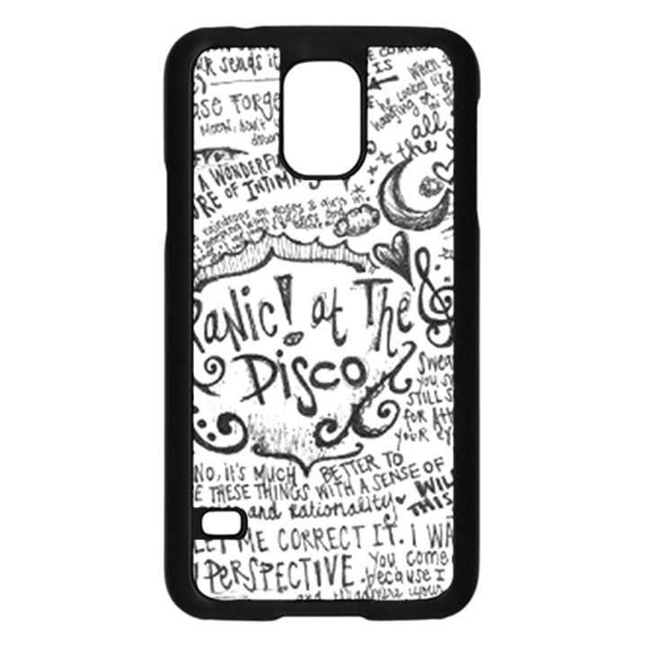 Panic! At The Disco Lyric Quotes Samsung Galaxy S5 Case (Black)