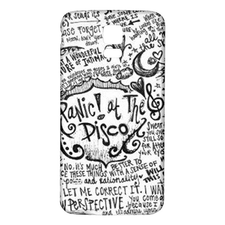 Panic! At The Disco Lyric Quotes Samsung Galaxy S5 Back Case (White)