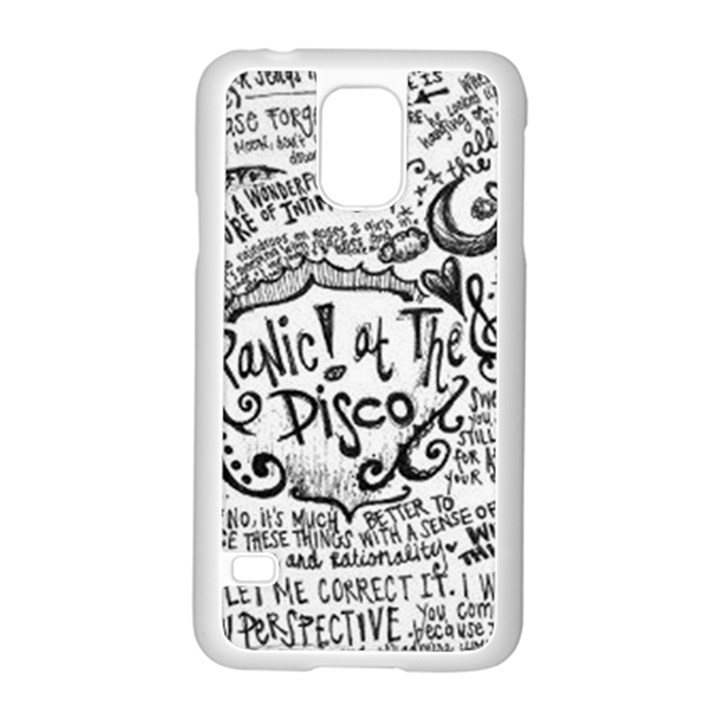 Panic! At The Disco Lyric Quotes Samsung Galaxy S5 Case (White)