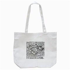 Panic! At The Disco Lyric Quotes Tote Bag (White)