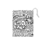 Panic! At The Disco Lyric Quotes Drawstring Pouches (Small)  Front