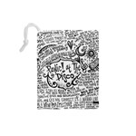 Panic! At The Disco Lyric Quotes Drawstring Pouches (Small)  Back