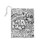 Panic! At The Disco Lyric Quotes Drawstring Pouches (Medium)  Back