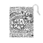 Panic! At The Disco Lyric Quotes Drawstring Pouches (Large)  Front