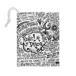 Panic! At The Disco Lyric Quotes Drawstring Pouches (Large)  Back