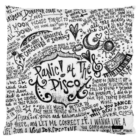 Panic! At The Disco Lyric Quotes Large Flano Cushion Case (Two Sides)