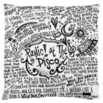 Panic! At The Disco Lyric Quotes Large Flano Cushion Case (Two Sides) Back