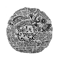 Panic! At The Disco Lyric Quotes Standard 15  Premium Flano Round Cushions