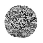 Panic! At The Disco Lyric Quotes Standard 15  Premium Flano Round Cushions Back