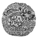 Panic! At The Disco Lyric Quotes Large 18  Premium Flano Round Cushions Back