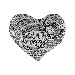 Panic! At The Disco Lyric Quotes Standard 16  Premium Flano Heart Shape Cushions