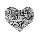 Panic! At The Disco Lyric Quotes Standard 16  Premium Flano Heart Shape Cushions Front