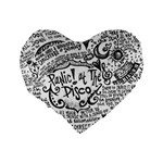 Panic! At The Disco Lyric Quotes Standard 16  Premium Flano Heart Shape Cushions Back